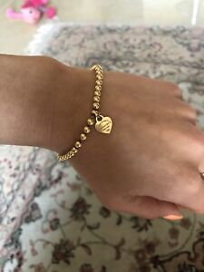 Tiffany and co gold bracelet -4mm -17cm