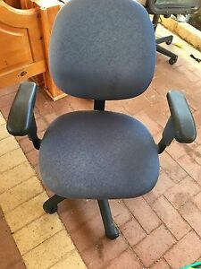 Blue office chair Secret Harbour Rockingham Area Preview