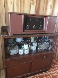 China cabinet and dishes