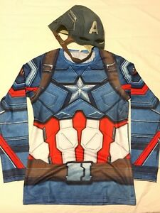 Captain America Halloween costume helmet shield shirt