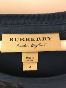 Mens Burberry tshirt, med,PLEASE READ ALL