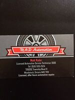 Licensed, after hours automotive repair