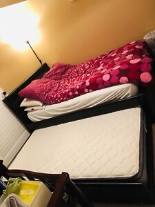 Queen bed with storage/extra bed