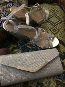 Sz 8 Prom Shoes & Clutch