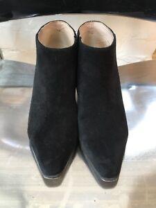 Clark's Black Suede Boot Size 6