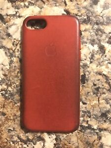 Apple red leather iPhone 7/8 case - used