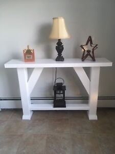 White Rustic Accent Table