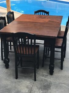 Bar High~ Pub Table Kitchen Dining Set