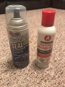 Tire Puncture Seal Bottle and butance