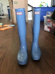 Brand new light blue hunter rain boots