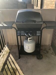 BBQ and propane tank