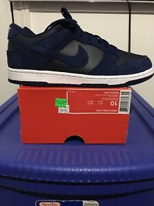 Nike Dunk Low Navy Suede New In Box