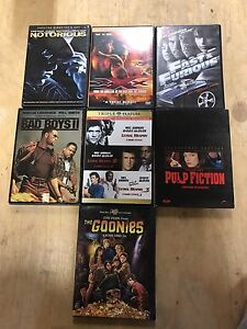 9 movies on DVD