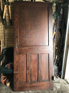 100 yr old solid oak door