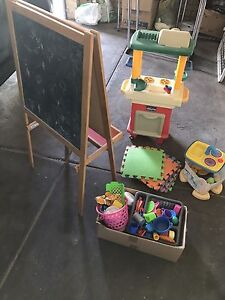 Kids selection easel white/blackboard, play kitchen Port Kennedy Rockingham Area Preview