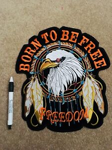 Embroidered large patch for bikers