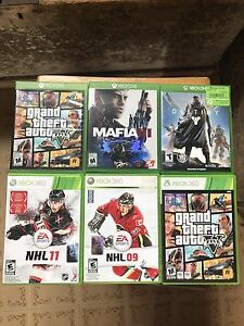 Games for Xbox 1 and Xbox 360