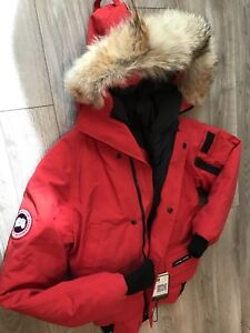 AUTHENTIC CANADA GOOSE YOUTH Chilliwack Red Down Bomber Jacket
