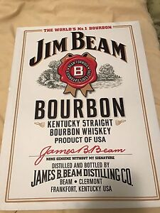 Signed Jim Beam collectors wall hanging Cedar Vale Logan Area Preview