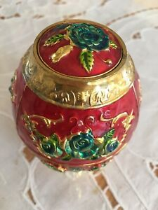 Spring is here! Unused Chinese Cloisonné toothpick-holder Egg!❤️