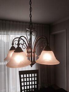 Luminaire suspendu bronze antique