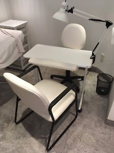 Manicure Table with Two Chairs