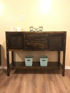 Rustic entertainment stand