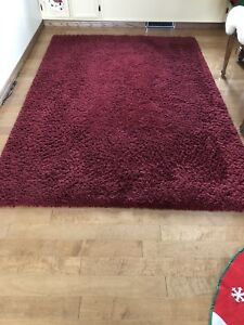 Red Area Rug 5x8