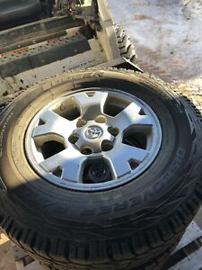 4 Toyota Tacoma 2006 Alloy Rims and Cooper AT3 tires