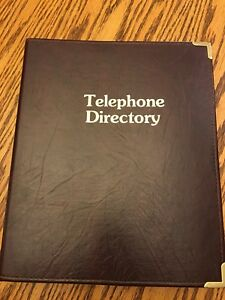 Leather Bound Phonebook Cover/Holder