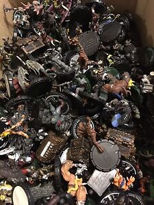 Huge box of Mage Knight figures and other game pieces!