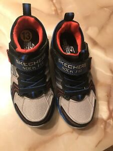 Black and blue brand new boys Skechers shoes