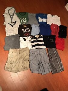 Various men's small to medium clothing