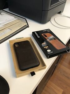 Nomad iPhone X/XS rugged leather card cell phone case