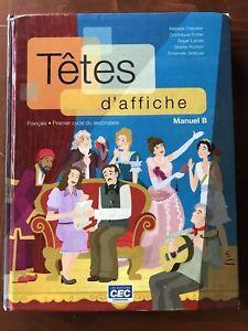 Manuel scolaire Tête d'affiche (français secondaire)