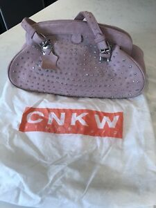 CNKW pink  suede purse/bag