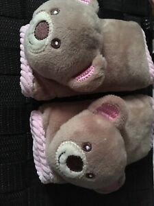 Teddy bear car seat belt covers