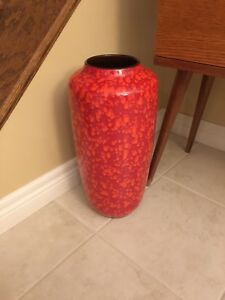 Vintage 1960s-70s  West Germany Floor Vase