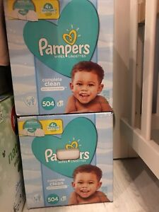 Pampers wipes 504 scented complete clean wipes