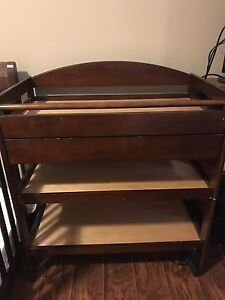 Coffee coloured changing table