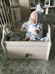 COLLECTABLE BABY IN BED STORAGE BOX