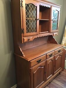 Moving Sale! Oak Hutch with Dining Room Table plus Chairs