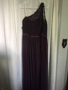Davids bridal bridesmaid dress, bridal size 20 in plum