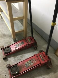 Automotive garage jacks and work table