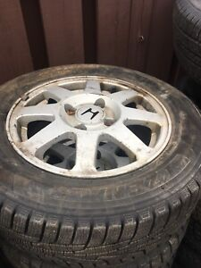 195 65R15 Khumo Winter Tires & Honda Accord Rims