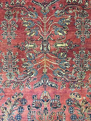 Majestic Mohajeran - 1910s Antique Sarouk Rug - Persian Carpet 10.11 x 13.2 ft.
