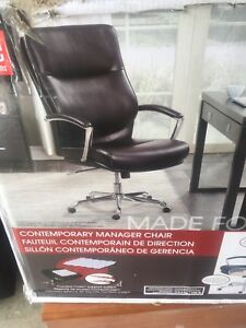 Deluxe Leather Office Chair New