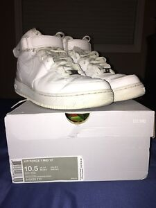 Nike Air Force 1 Mid '07,  Used, Men's Size10.5