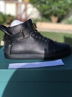 Buscemi 100mm clip high top black