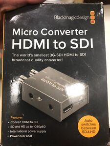 Blackmagic hdmi to sdi micro converter